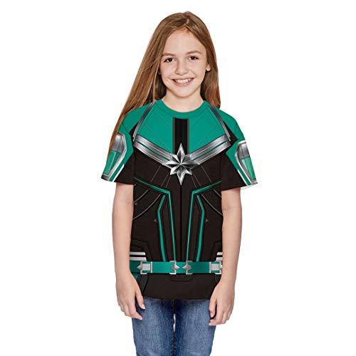 Girls Boys Super Hero Captain T-Shirt Halloween Superhero Costume 3D Print Graphic Tops Shirts