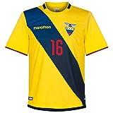 Ecuador Home A. Valencia Jersey 2016 / 2017 (Fan Style Printing) - L