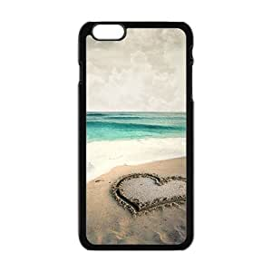 Clear sea water and beach heart personalized creative custom protective phone case for Iphone 6