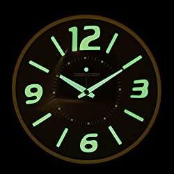 Besplore Wall Clock with Night Light Function,Silent Non-Ticking Night Lights,for Indoor Kitchen of Large Number Battery Operated