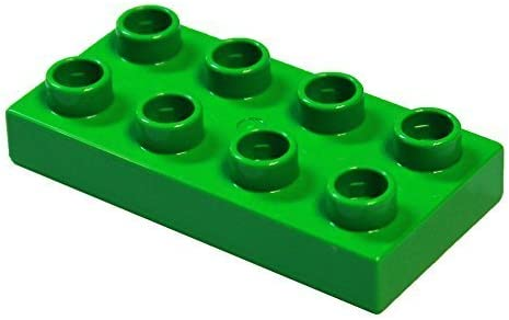 LEGO Parts and Pieces: DUPLO Bright Green 2x4 Plate x20