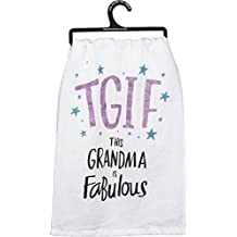 Primitives by Kathy 34205 This Grandma is Fabulous TGIF Glitter Dish Towel
