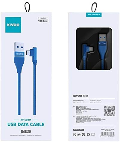 Black CBS AYS KV-CG011 2.1A Micro to USB Single Angle Head Design Charging Cable Color : Red Length: 1m