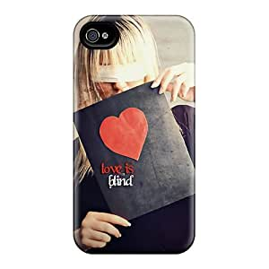 Faddish Phone Love Is Blind Case For Iphone 4/4s / Perfect Case Cover