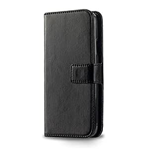 BLU Dash 4.0 Leather Case, EKO Lether Cover Case for BLU Dash 4.0 , Flip Leather Case with Strong Protect Ability (Black)
