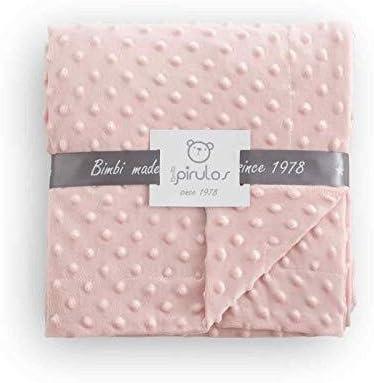 dise/ño dots color rosa Manta doble cara Pirulos 64005104 80 x 110