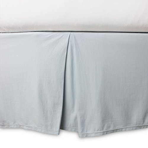 Burt's Bees Baby - Crib Skirt, Solid Color, 100% Organic Cotton Crib Skirt for Standard Crib and Toddler Mattresses (Sky Blue)