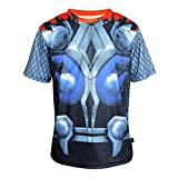 Arsuxeo Mens Slim Fit Superhero Gym Workout Running T-Shirt,Cool Summer Tops Costume Thor US XL/Tag XL