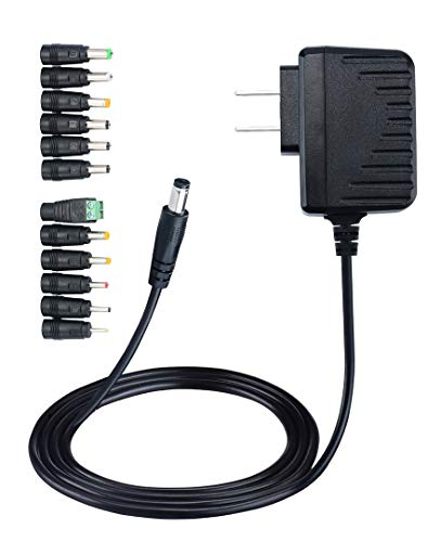 (Geeon 12V AC DC Adapter 500mA 6W Transformer Charger with 12PCS Replacement Plug Connectors UL Listed (For 12 Volt Device ONLY))