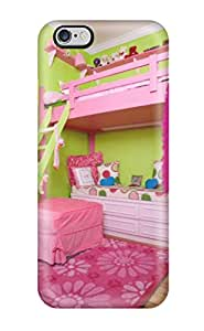 Cute Appearance Cover/tpu KVFbSGx16549pLxoh Fluorescent Pink And Green Children8217s Room With Loft Bed Case For Iphone 6 Plus