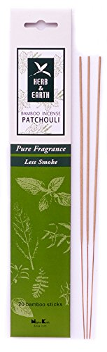 Earth Incense Sticks - Herb & Earth Bamboo Incense Patchouli 20 Sticks