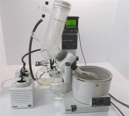 buchi-r-200-rotavapor-system-includes-glassware-and-vacuum-pump