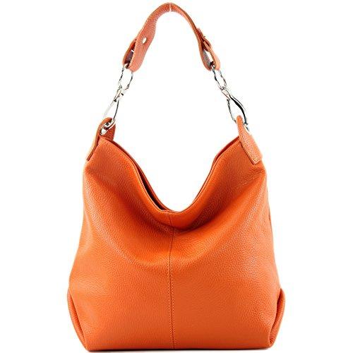 bandoulière cuir T168 épaule Farbe modamoda en sac de à Präzise Farbe ital Orange nur X8XHwTx