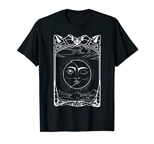 Card   Sun and Moon eclipse   Retro Art ()