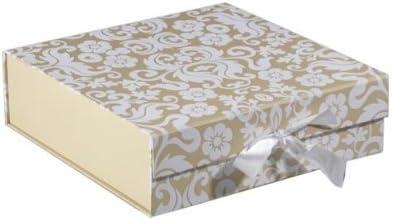 Caja de regalo mediana y aterciopelada de color marfil: Amazon.es: Hogar