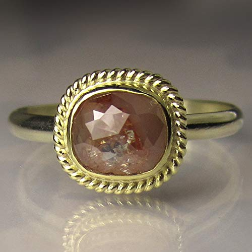 Rose Cut Diamond Engagement Ring in 18k and 14k Gold ()