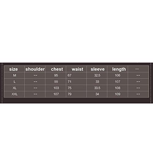 Cinturino Slim Stampa In Vita Donna Cuciture Xl Geometrica Dress Da Abiti Split Wang Chiffon Vestiti Sexy Estivi dimensioni 7P0cvq