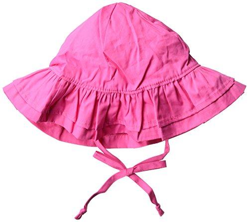 Flap Happy Baby Girls' Upf 50+ Double Ruffle Hats, Candy Pink, Medium