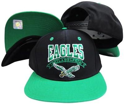 Reebok Philadelphia Eagles Black/Green Two Tone Plastic Snapback Adjustable Plastic Snap Back Hat/Cap