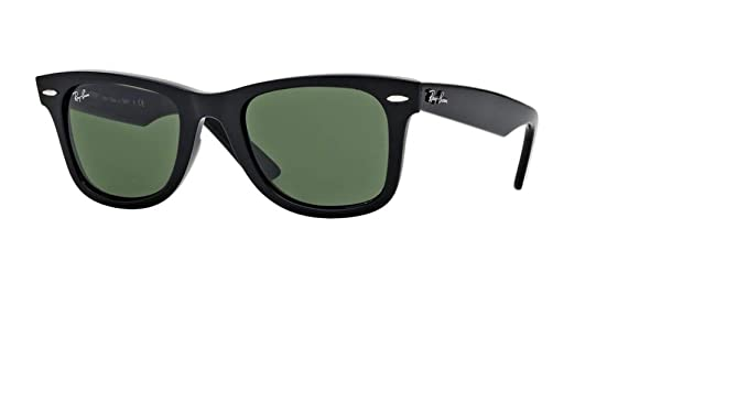 01ff27a643 Ray-Ban RB2132 New Wayfarer Classic Unisex Sunglasses (Black Frame Green G-