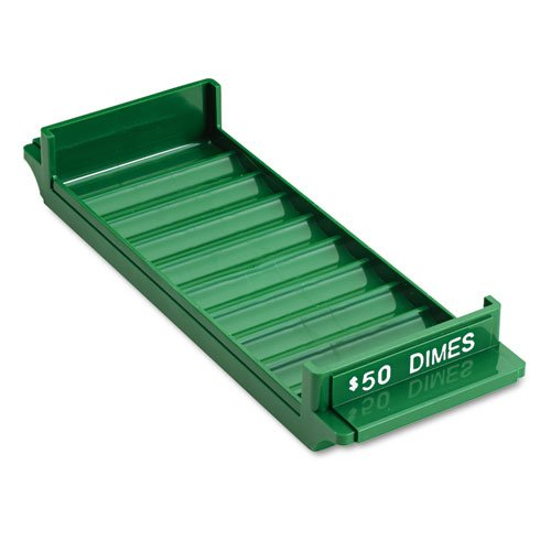 (Porta-Count System Rolled Coin Plastic Storage Tray, Green, Sold as 1 Each)