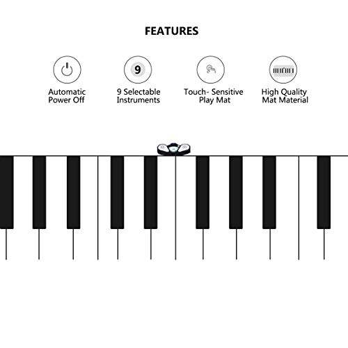 FDInspiration 24-Key Kids Keyboard Dance Gigantic Piano Playmat w/ Cable with Ebook by FDInspiration (Image #4)