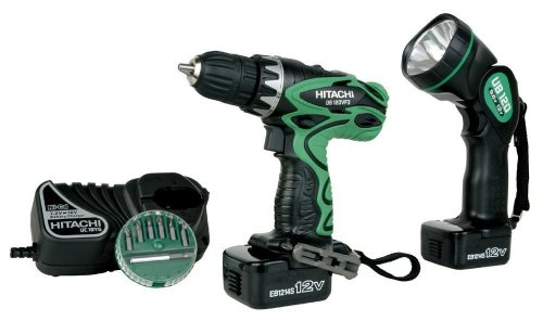 Factory-Reconditioned: Hitachi DS12DVF3 12-Volt Ni-Cad 3/8-Inch Cordless Drill/Driver Kit