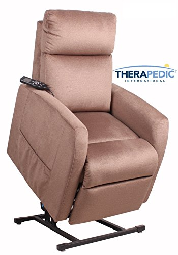 (Power Lift Chair Recliner by Therapedic – Beautiful Mocha Soft to the Touch, Cooling Gel Foam, 3 Position full recline, Easy Hand Remote Operation - Premium Comfort by a Trusted Classic American Brand)