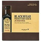 Skin Food Black Sugar Serum 2X Essential (For Brightening n Anti Wrinkle) + Cotton Pad 60 Sheets