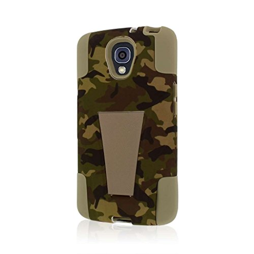 Volt Case - LG Volt Case (F90 LS740), MPERO IMPACT X Series Dual Layered Tough Durable Shock Absorbing Silicone Polycarbonate Hybrid Kickstand Case for Volt [Perfect Fit & Precise Port Cut Outs] - Hunter Camo
