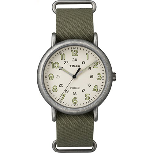 - Timex Weekender Oversized | Green Nylon Strap 24-Hour Time | Casual TW2P85900