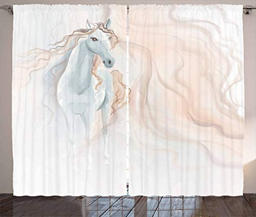 Ambesonne Horse Curtain