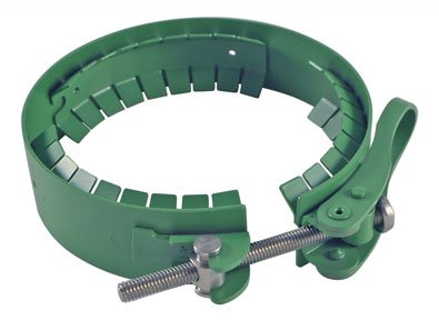 Chemglass CG-141-T-14 Series CG-141-T Quick Release Clamp for Duran Reaction Flanges and Lids, 150 mm Diameter, PTFE Coated, Stainless Steel