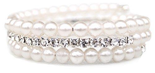 Brautschmuck armband perlen Armband Armreif Strassarmreif Perlen Strass Brautschmuck Hochzeit ...