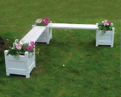 (BestNest Dura-Trel Corner Planter Seat Package)