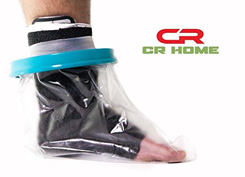 Waterproof Foot Cast Cover for Shower - Keep Bandages & Casts Dry and Watertight in the Shower, Pool, & Ocean - Reusable - Fully Submersible - Keep Sand Away From (Freedom Leg Bag)