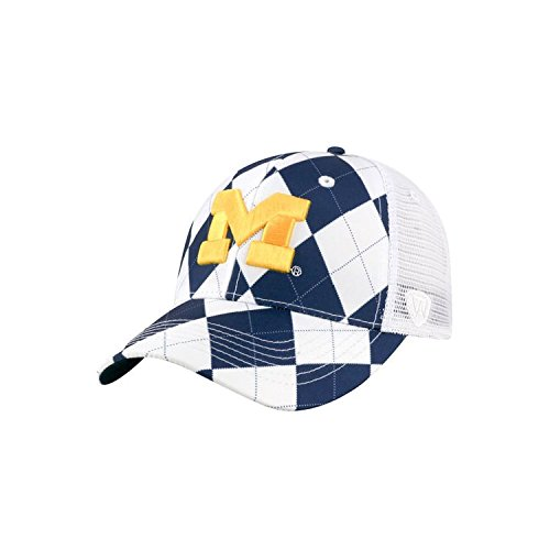 Visor Golf Argyle - Michigan Wolverines NCAA Top of the World