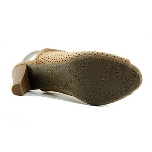 Nude Femme Haut Chaussures ® Bella Cuir Confort Bout Valeur Escarpins Ouvert Nubuck Bella Beige Flexible Marque Super B Talon b Souple RwvqPz