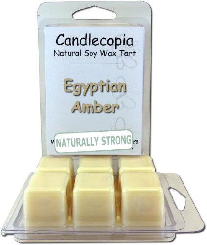 Candlecopia Egyptian Amber Strongly Scented Hand Poured Vegan Wax Melts, 12 Scented Wax Cubes, 6.4 Ounces in 2 x 6-Packs