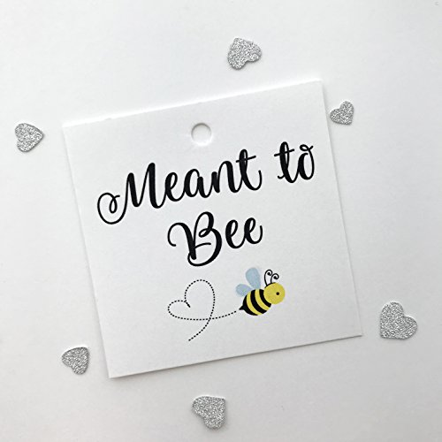 Honey Bee Wedding - 24ct Meant to Bee Honey Wedding Favor Tags (SQ-133-WT)