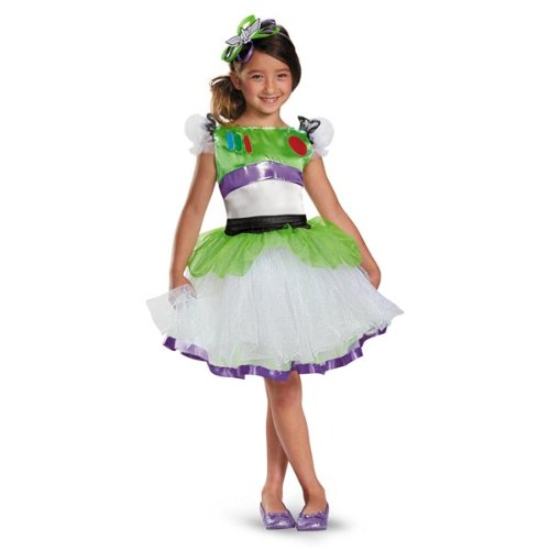 [Disguise Disney Pixar Toy Story and Beyond Buzz Lightyear Tutu Prestige Girls Costume, Medium/7-8] (Buzz Lightyear Costumes Women)
