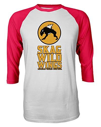 22df8fa46 TMB Apparel New Novelty Shirt Borderlands Skag Shirt Hunter Buffalo Wild  Wings Raglan Quarter Sleeve Men s T-Shirt (Red