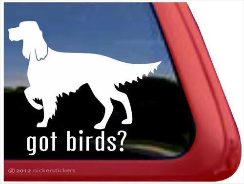Got Birds? ~ Irish Setter Vinyl Window Auto Decal Sticker