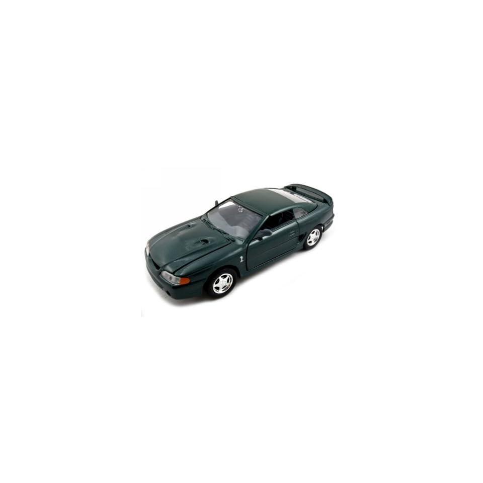 1998 Ford Mustang SVT Cobra Green 124 Diecast Car