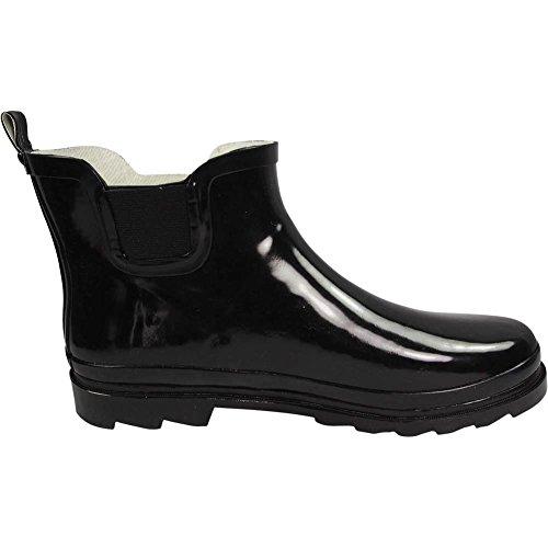 NORTY Damen Knöchel Regen Stiefel - für Damen - Regenstiefel wasserdicht für Winter Frühling und Garten - warm und bequem - Sohlen mit Grip - gut gebaut Schwarz