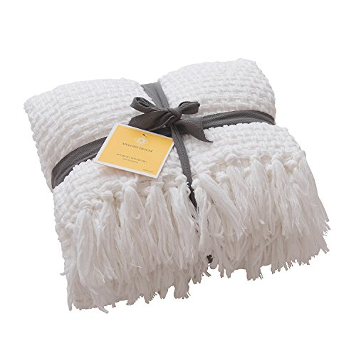 Super Soft Woven Plaid Pattern Throw, MELODY HOUSE Decorativ
