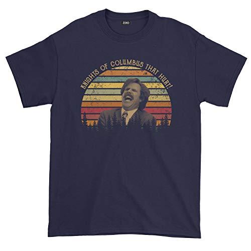 Men's Knights of Columbus That Hurt Vintage T-Shirt (XL, Navy)