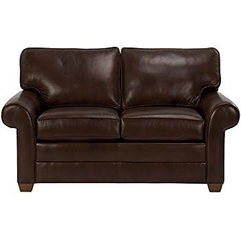 Amazon Com Ethan Allen Retreat Roll Arm Leather Sofa 68
