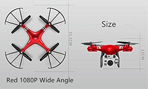 HR HR HR SH5HD WiFi FPV Quadcopter mit 2MP / 1080P HD-Kamera RC Drohne Spielzeug Höhe halten Kopfloser Modus (Rot 1080P Breit Winkel) 0a438d