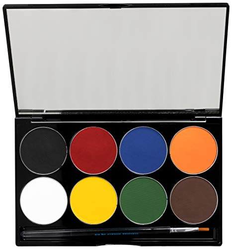 Mehron Makeup Paradise AQ Face & Body Paint 8 Color Palette (Basic) (Best Cheap Face Paint)